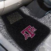 Texas A&M 2-piece Embroidered Car Mats 18x27