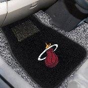 NBA - Miami Heat 2-piece Embroidered Car Mats 18x27
