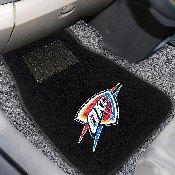 NBA - Oklahoma City Thunder 2-piece Embroidered Car Mats 18x27
