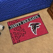 NFL - Atlanta Falcons Starter Mat - Happy Holidays 19