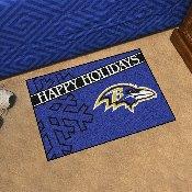 NFL - Baltimore Ravens Starter Mat - Happy Holidays 19
