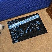 NFL - Carolina Panthers Starter Mat - Happy Holidays 19