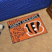 NFL - Cincinnati Bengals Starter Mat - Happy Holidays 19