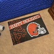 NFL - Cleveland Browns Starter Mat - Happy Holidays 19