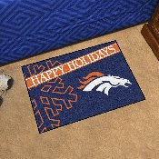 NFL - Denver Broncos Starter Mat - Happy Holidays 19