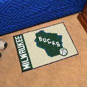 NBA - Milwaukee Bucks Uniform Inspired Starter Rug 19x30