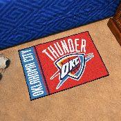 NBA - Oklahoma City Thunder Uniform Inspired Starter Rug 19x30