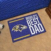 NFL - Baltimore Ravens Starter Mat - World's Best Dad 19