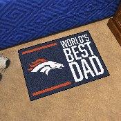 NFL - Denver Broncos Starter Mat - World's Best Dad 19