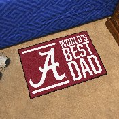 University of Alabama Starter Mat - World's Best Dad 19
