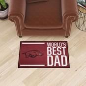 University of Arkansas Starter Mat - World's Best Dad 19
