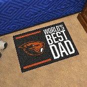 "Oregon State University Starter Mat - World's Best Dad 19""x30"""