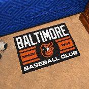 Baltimore Orioles Baseball Club Starter Rug 19x30