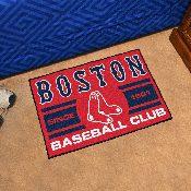 Boston Red Sox Baseball Club Starter Rug 19x30