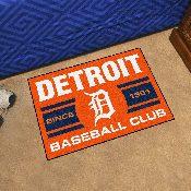 Detroit Tigers Baseball Club Starter Rug 19x30
