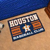 Houston Astros Baseball Club Starter Rug 19x30