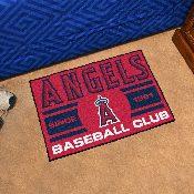 Los Angeles Angels Baseball Club Starter Rug 19x30