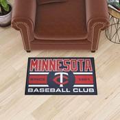 Minnesota Twins Baseball Club Starter Rug 19x30