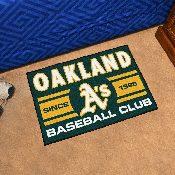 Oakland Athletics Baseball Club Starter Rug 19x30