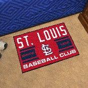 St Louis Cardinals Baseball Club Starter Rug 19x30