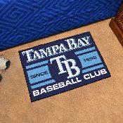Tampa Bay Devil Rays Baseball Club Starter Rug 19x30