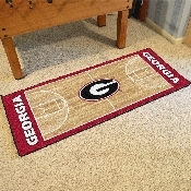 Georgia Basketball Court Runner 30x72