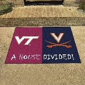 Virginia Tech / Virginia House Divided Rug 33.75x42.5