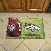 NFL Denver Broncos Scraper Mat 19x30