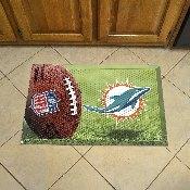 NFL Miami Dolphins Scraper Mat 19x30