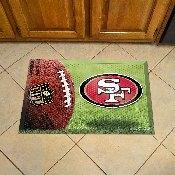 NFL San Francisco 49ers Scraper Mat 19x30