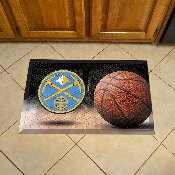 NBA - Denver Nuggets Scraper Mat 19x30 - Ball