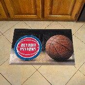 NBA - Detroit Pistons Scraper Mat 19x30 - Ball