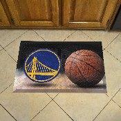NBA - Golden State Warriors Scraper Mat 19x30 - Ball