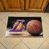 NBA - Los Angeles Lakers Scraper Mat 19x30 - Ball