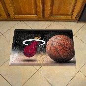 NBA - Miami Heat Scraper Mat 19x30 - Ball