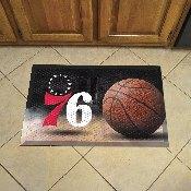 NBA - Philadelphia 76ers Scraper Mat 19x30 - Ball