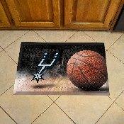NBA - San Antonio Spurs Scraper Mat 19x30 - Ball