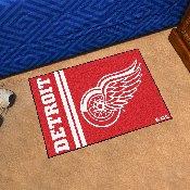 Detroit Red Wings Uniform Inspired Starter Rug 19x30