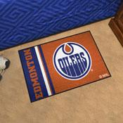 Edmonton Oilers Uniform Inspired Starter Rug 19x30