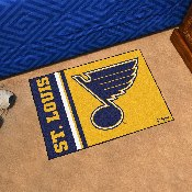 St Louis Blues Uniform Inspired Starter Rug 19x30