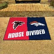 NFL - Atlanta Falcons/Denver Broncos House Divided Rugs 33.75x42.5