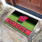 University of Wisconsin 18x30 Crumb Rubber Door Mat