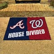 MLB - Braves - Nationals House Divided Rug 33.75x42.5