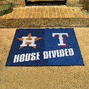 MLB - Astros - Rangers House Divided Rug 33.75x42.5