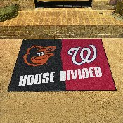 MLB - Orioles - Nationals House Divided Rug 33.75x42.5