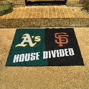 MLB - Athletics - Giants House Divided Rug 33.75x42.5