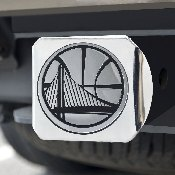 NBA - Golden State Warriors Chrome Hitch Cover 4 1/2x3 3/8