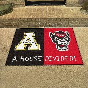 NC State - Appalachian State Divided Rug 33.75x42.5