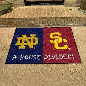 Notre Dame - USC Divided Rug 33.75x42.5