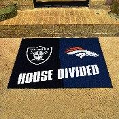NFL - Broncos - Raiders House Divided Rug 33.75x42.5